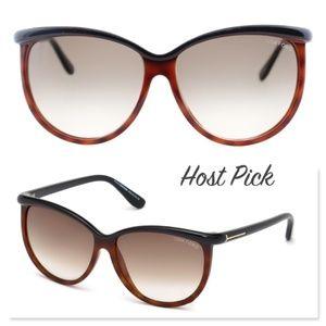 New TOM FORD Josephine Brown Oversized Sunglasses